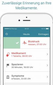 Medikamenteneinnahme-MyTherapy-187x300 in Ein digitaler Therapieassistent